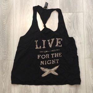 Forever 21 - tank 'live for the night'